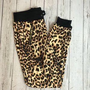 Pants - Leopard print joggers M L